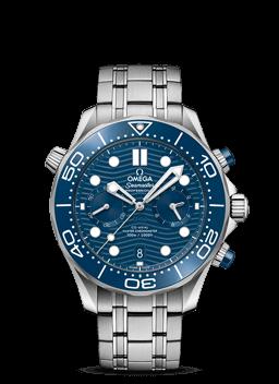 300米潜水表 欧米茄同轴至臻天文台计时腕表44毫米 - 210.30.44.51.03.001