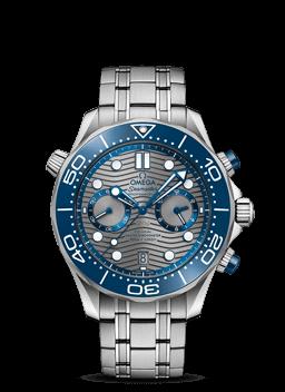 300米潜水表 欧米茄同轴至臻天文台计时腕表44毫米 - 210.30.44.51.06.001
