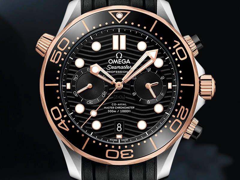 欧米茄海马系列300米潜水计时表